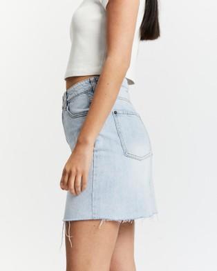 All About Eve - Blair Split Skirt - Denim skirts (Blue) Blair Split Skirt