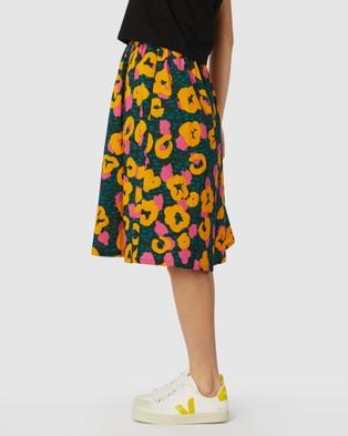 Gorman Leopard Lemonade Skort - Chino Shorts (Green)