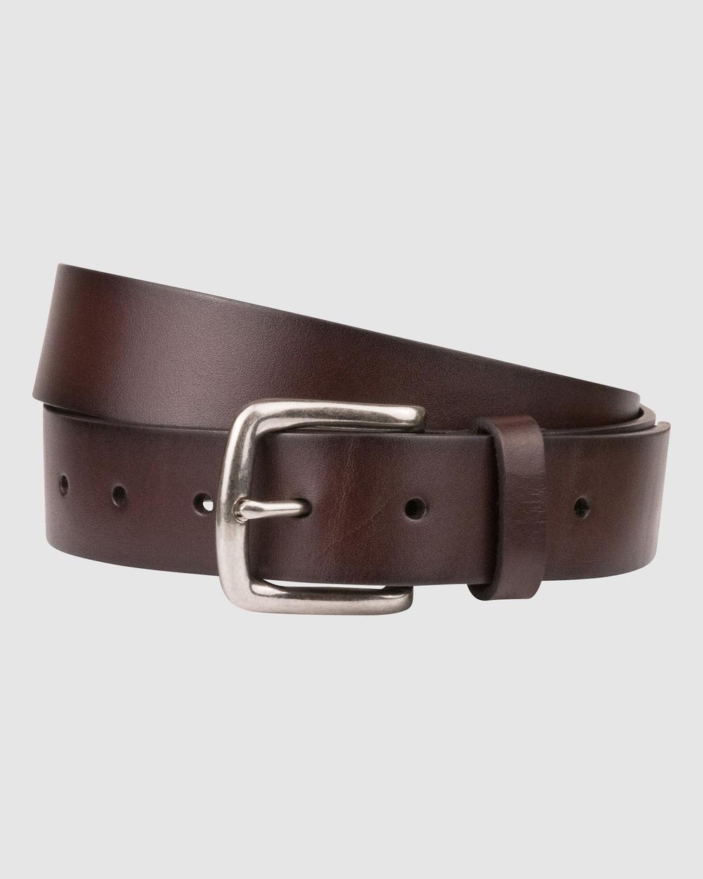 Florsheim Pacino Belt Belts Dark brown