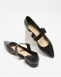 Atmos&Here - Cassis Leather Flats