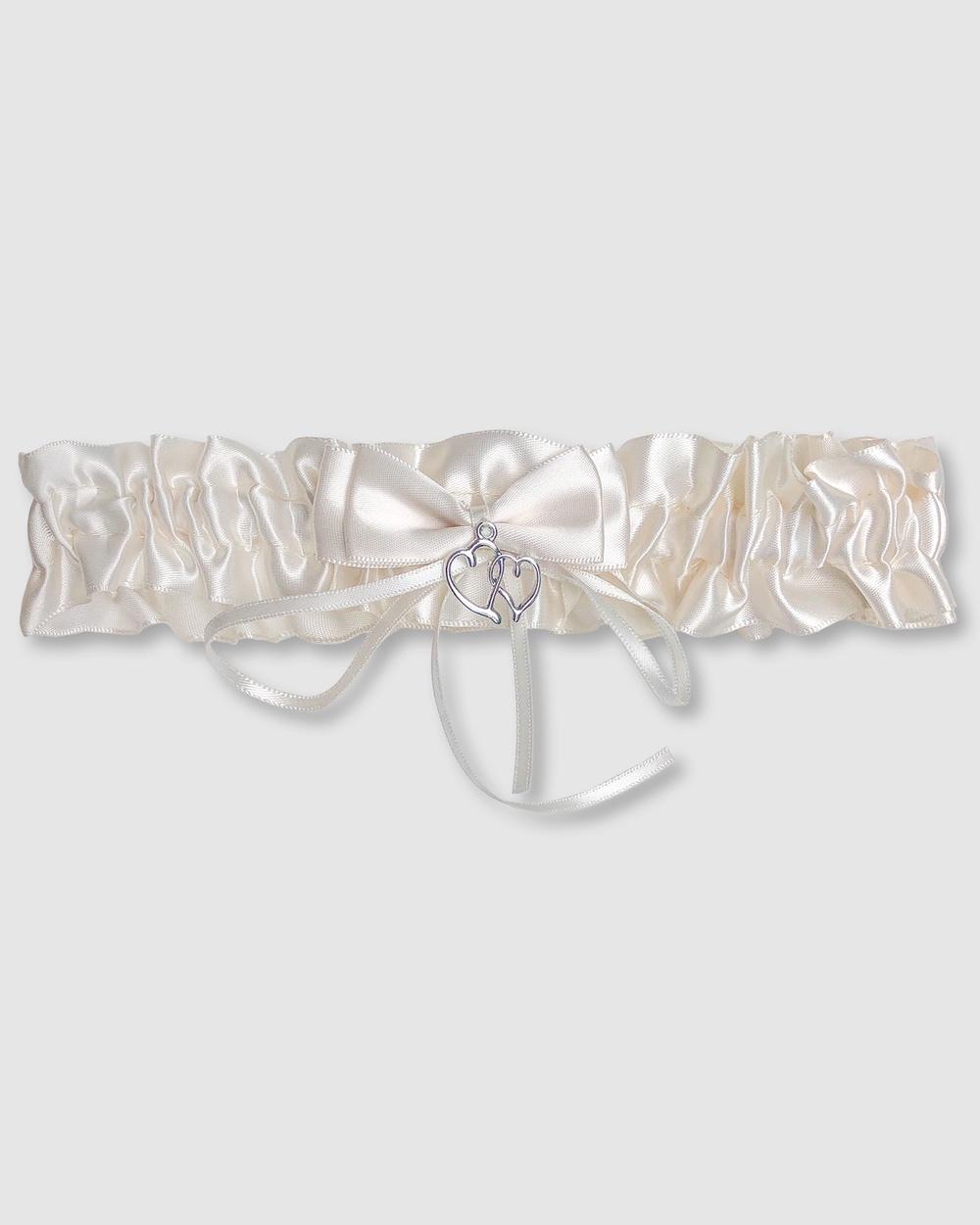 B Free Intimate Apparel Bridal Garter Deluxe Wedding & Ivory