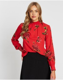 Dorothy Perkins - Floral Shirred Neck Top