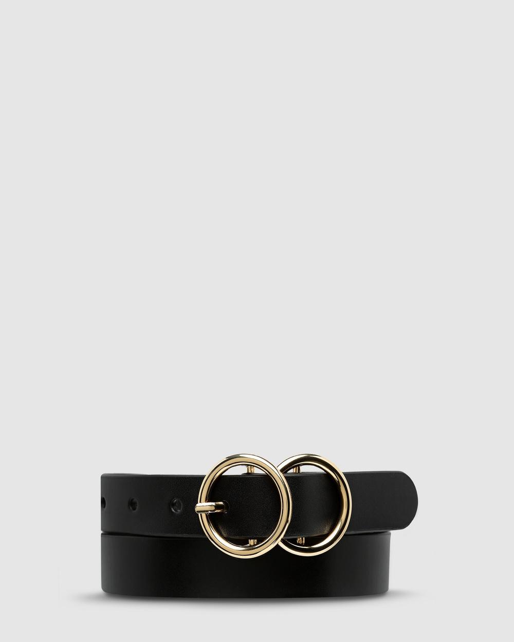 Status Anxiety Mislaid Skinny Belt Belts Black/Gold