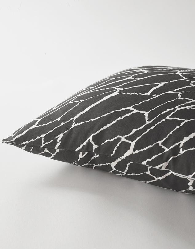 Life Shatter Cushion Black & White