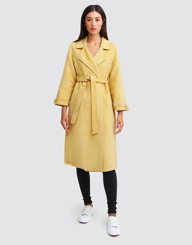 Women Stay Wild Oversized Wool Coat