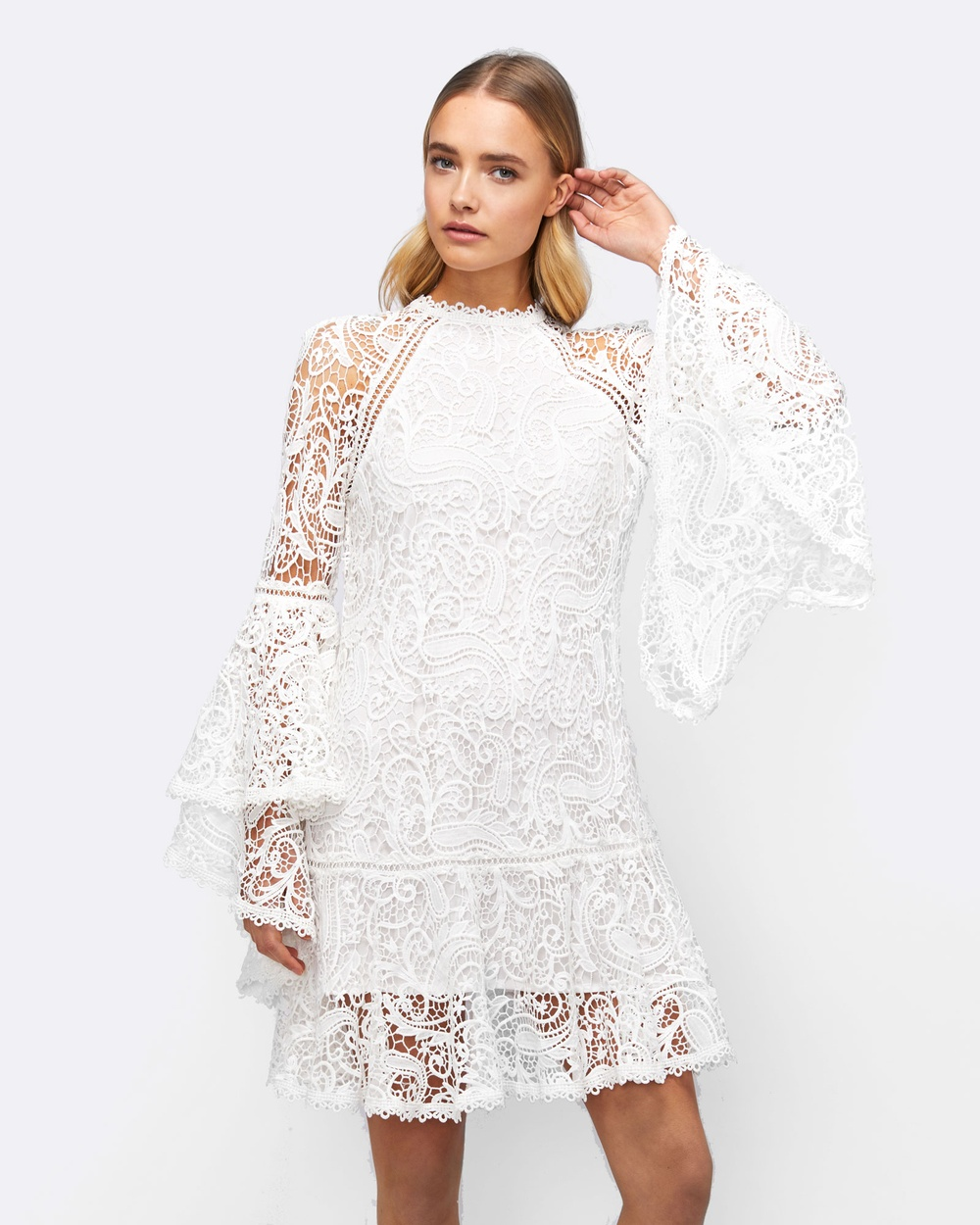 MVN Love Never Dies Lace Dress Dresses White Love Never Dies Lace Dress
