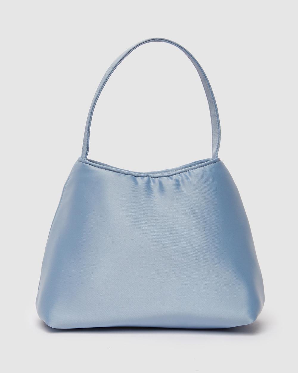Brie Leon The Mini Chloe Bag Satin Handbags Blue Handbags Australia
