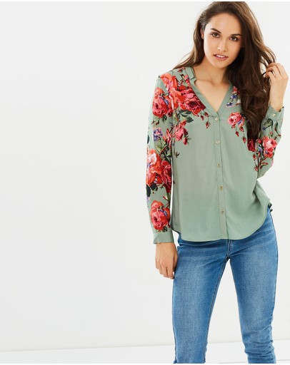 Oasis - Rose Placement LS Shirt
