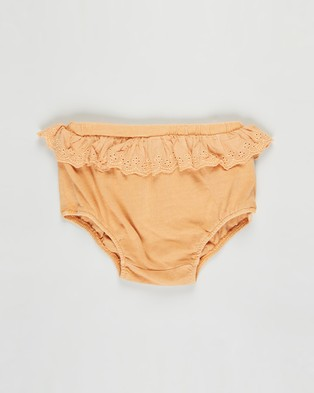 Cotton On Baby 3 Pack Kelsie Frill Bloomers   Babies - Bloomers (Apricot Sun, Navy Blazer & Dust Storm)