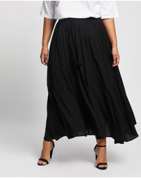 Atmos&Here Curvy - Domanique Midi Skirt