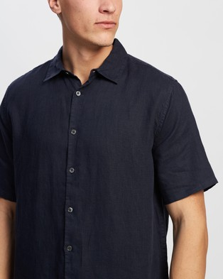 Assembly Label Casual Short Sleeve Shirt - Casual shirts (True Navy)