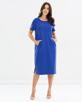 Lincoln St – Clemente Cocoon Dress Royal