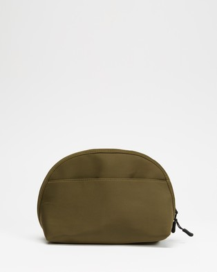 Typo Essential Pouch - Toiletry Bags (Khaki & Papaya)