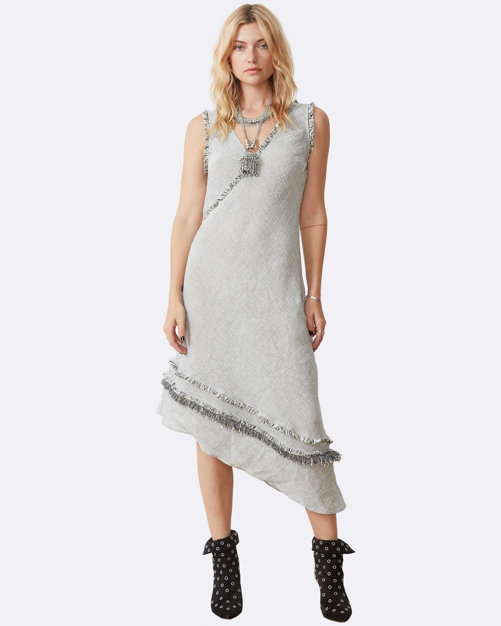 Stevie May Danica Midi Dress Dresses Grey Danica Midi Dress