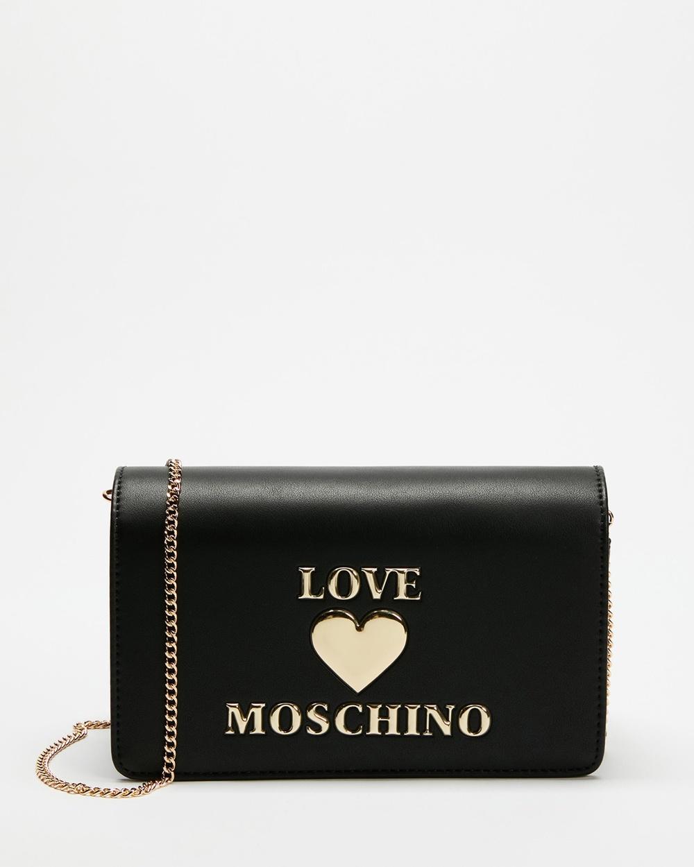 LOVE MOSCHINO PU Logo Bag Handbags Nero