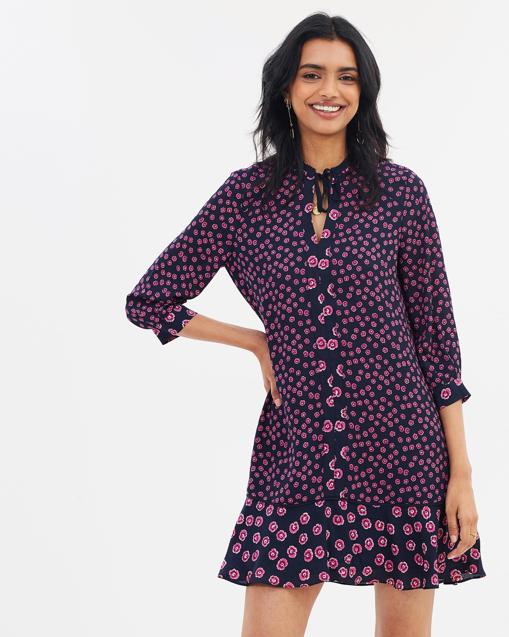 Whistles Lenno Print Shirt Dress Printed Dresses Pink & Multi Lenno Print Shirt Dress