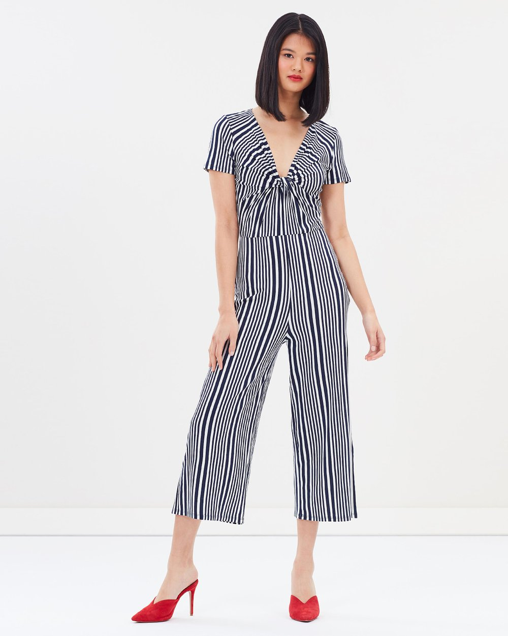d12759d75ac Striped Knot Front Jumpsuit by Miss Selfridge Online