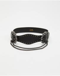 Camilla - Double Lion Buckle Belt with Chain