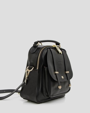 Belle & Bloom Camila Leather Backpack - Backpacks (Black)