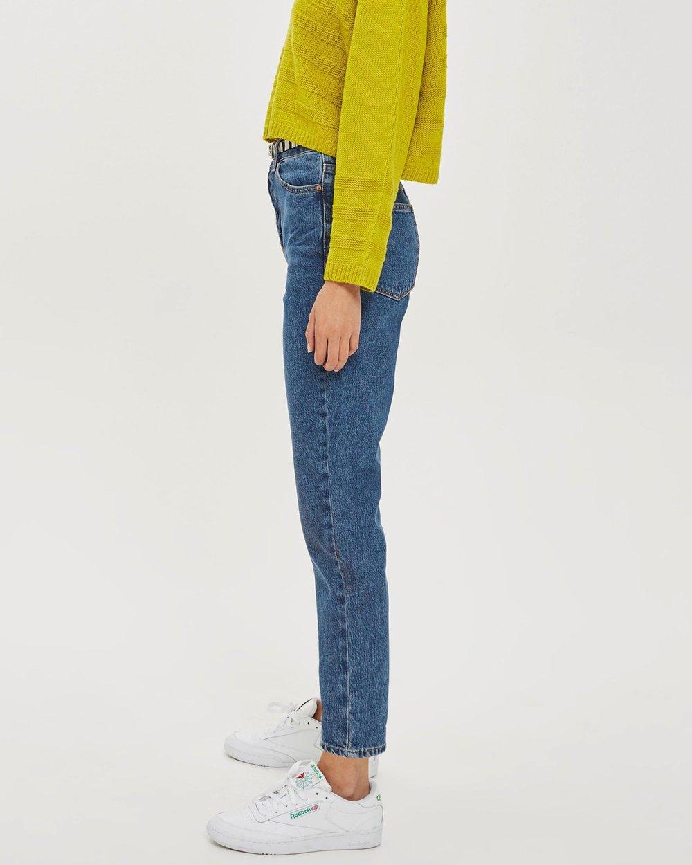 1b7268474b7b Rich Blue Mom Jeans by TOPSHOP Online
