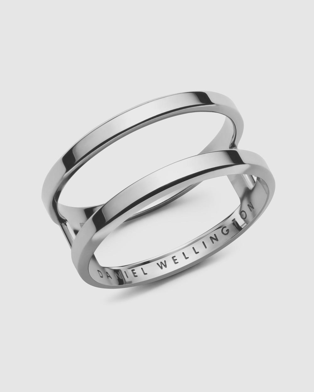 Daniel Wellington Elan Dual Ring Jewellery Silver