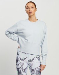DKNY - Cropped Crewneck Pullover with Side Zipper Detailing