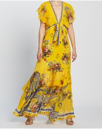 Camilla - Tie Front Maxi with Centre-Front Split