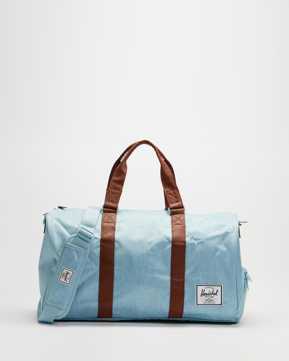 Herschel Novel Duffle Bags Light Denim Crosshatch