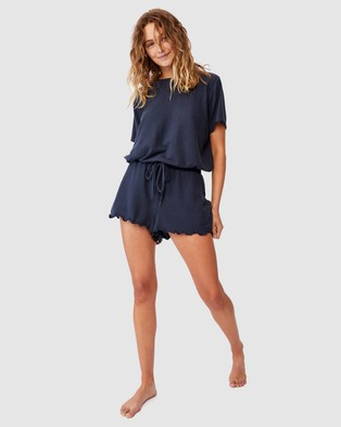 Cotton On Body Super Soft Relaxed Shorts - Sleepwear (Magnet Blue)