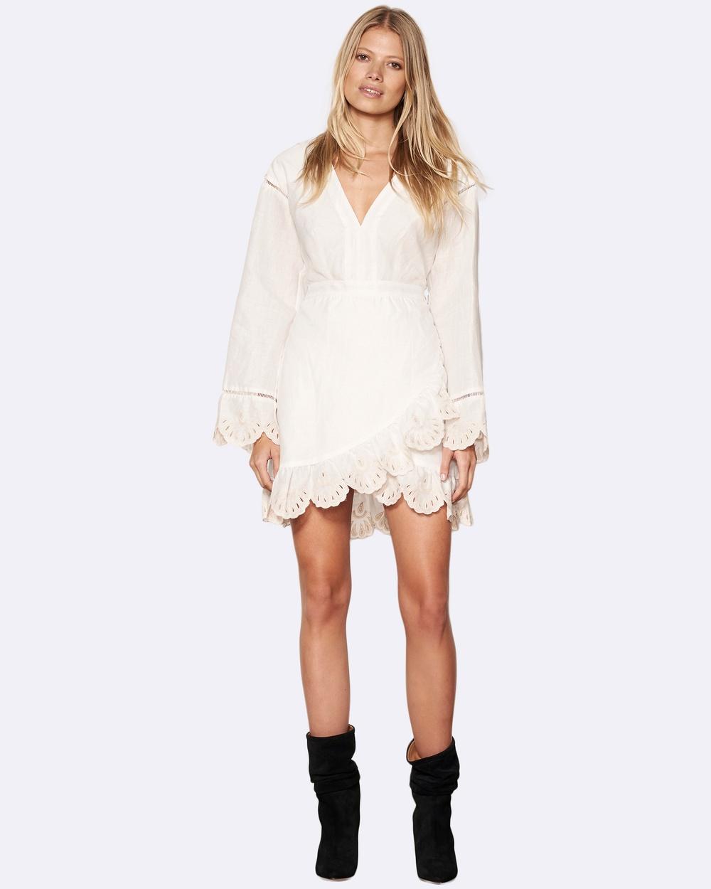 Stevie May Intertwine Mini Dresses White Intertwine Mini