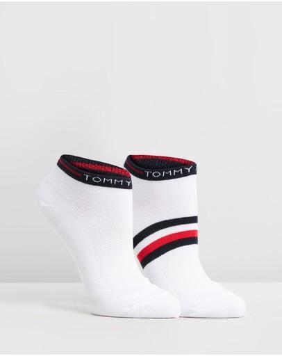 Tommy Hilfiger 2-pack Flag Logo Socks White