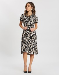 DP Petite - Camo Shirt Dress