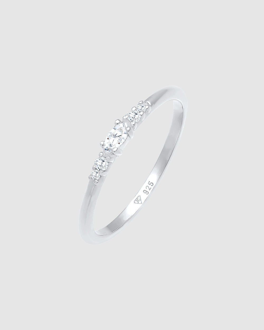 Elli Jewelry Ring Marquise Elegant Engagement with Zirconia Crystals in 925 Sterling Silver Jewellery Silver