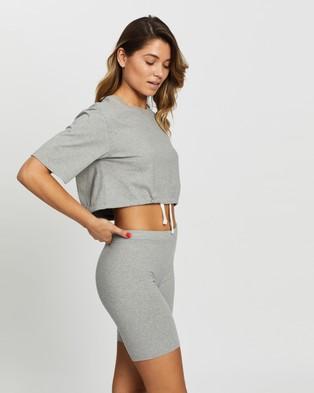 Les Girls Les Boys Jersey Apparel Crop Top - T-Shirts & Singlets (Grey Marl)