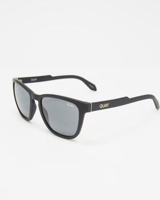 Quay Australia Hardwire - Sunglasses (Matte Black & Smoke)