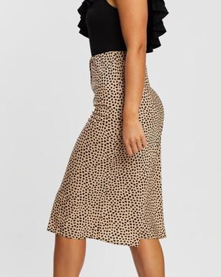 Atmos&Here Heidi Midi Skirt - Skirts (Neutral Animal)
