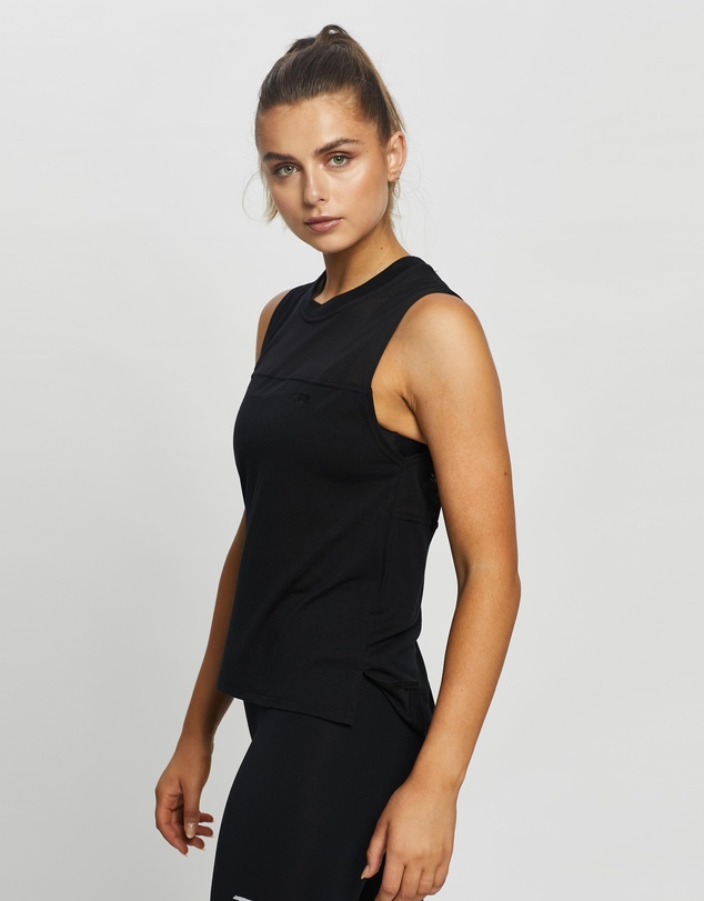 Women Mesh With Me Cropped Tank