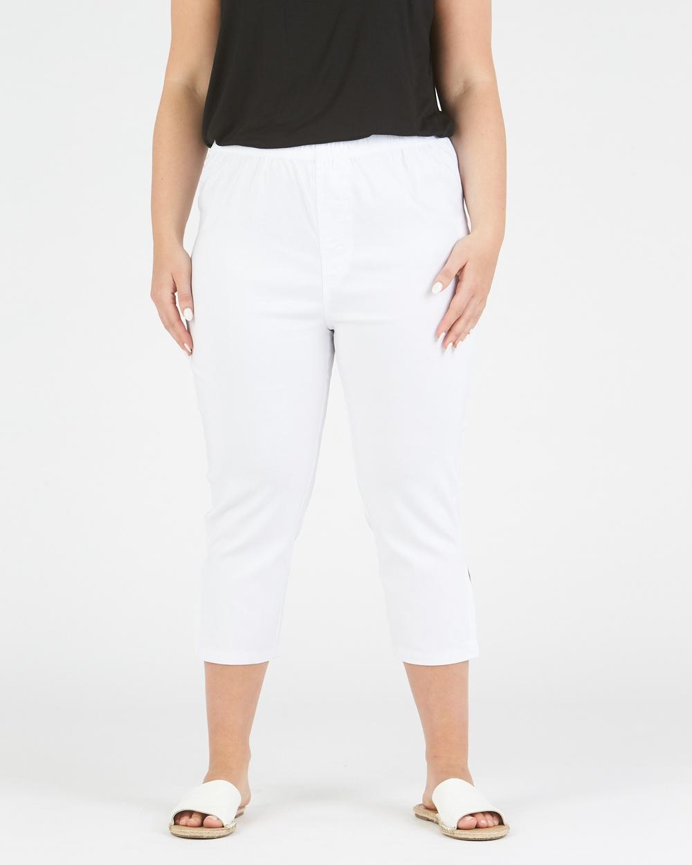 Advocado Plus Side Split Pants White
