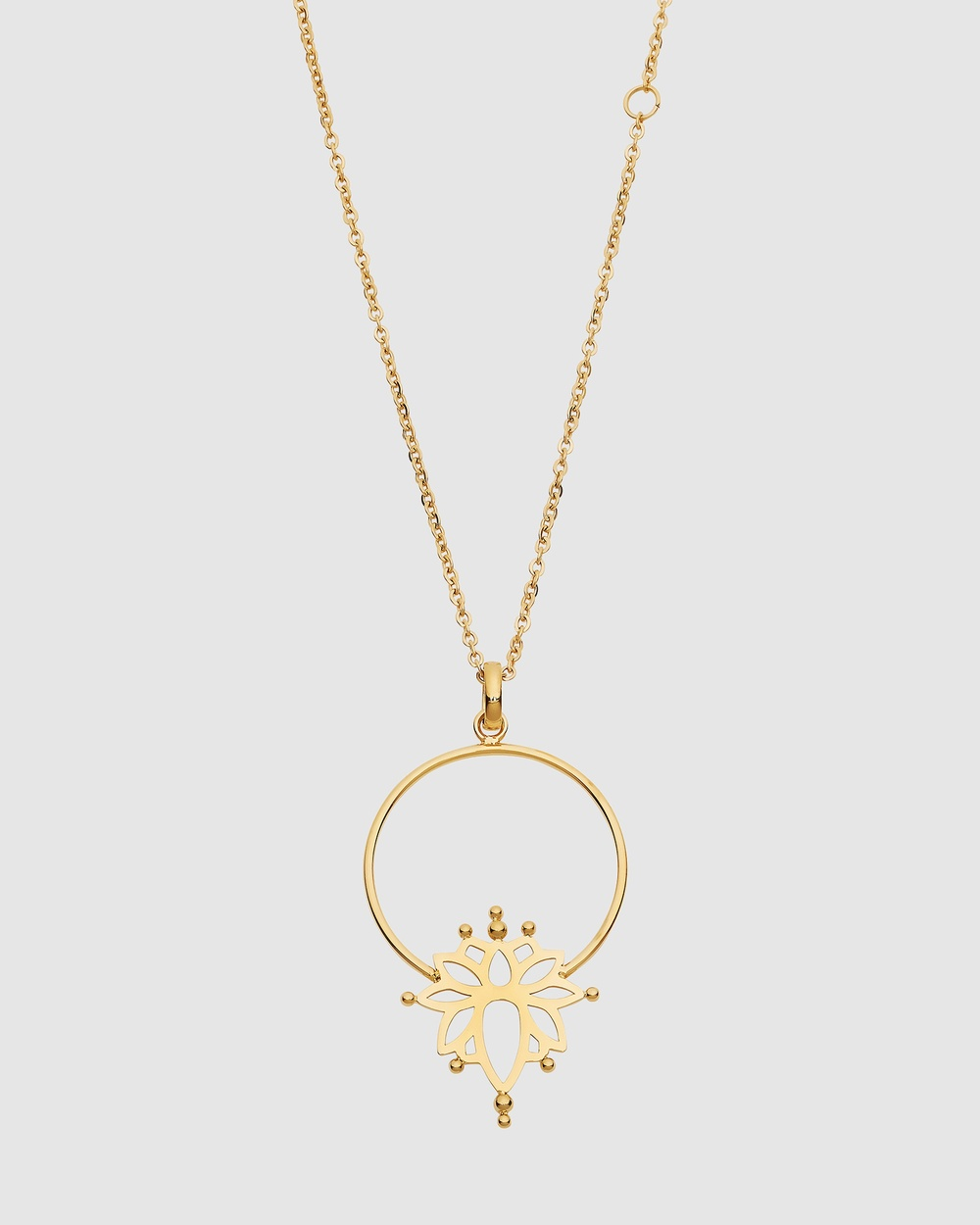 Pastiche Water Lily Necklace Jewellery Gold