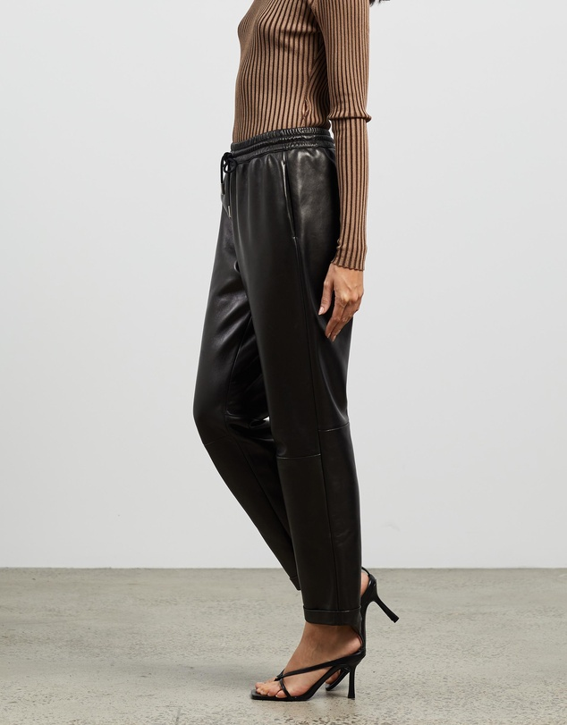 Women Leather Joggers