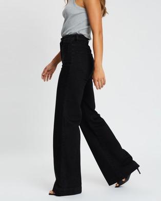 Rolla's Sailor Long Jeans - High-Waisted (Comfort Jet Black)