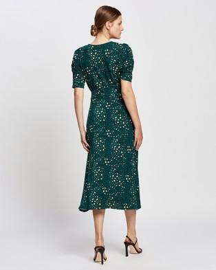 Dorothy Perkins Empire Seam Short Sleeve Midi Dress - Printed Dresses (Green)