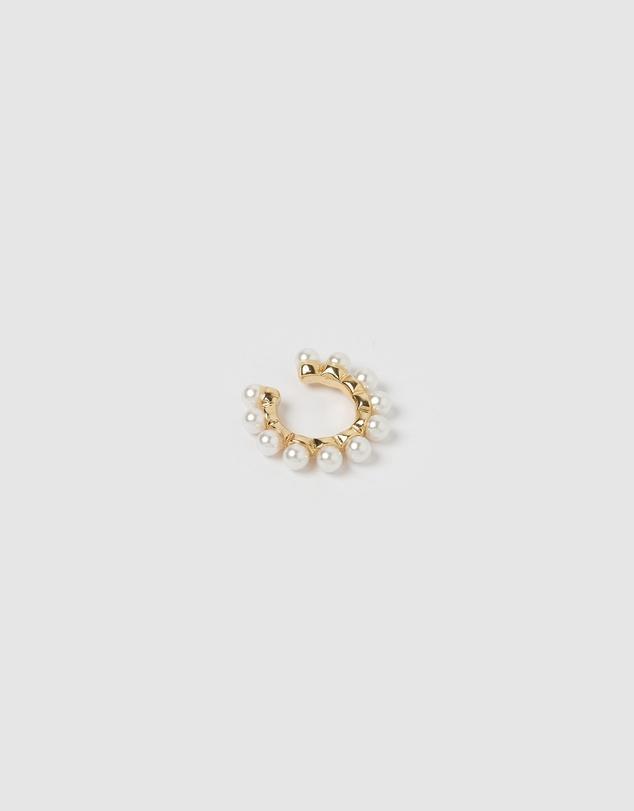 Women Lei Pearl Ear Cuff