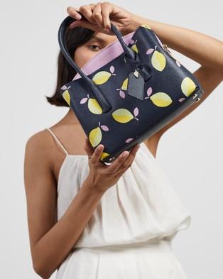 Kate Spade - Margaux Lemons Medium Satchel - Handbags (Blue Multi) Margaux Lemons Medium Satchel