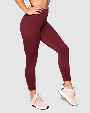 Muscle Republic Inspire 7 8 Leggings - 7/8 Tights (Burgundy)
