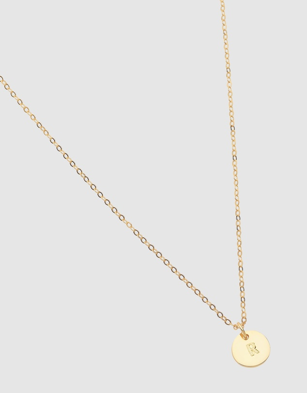 Women Initial R Letter Necklace