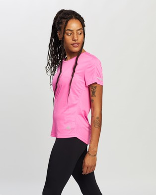 adidas Performance - Run It Tee Women's Short Sleeve T-Shirts (Screaming Pink)