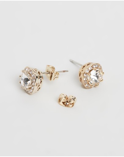 Mestige Halle Earrings With Swarovski® Crystals Gold