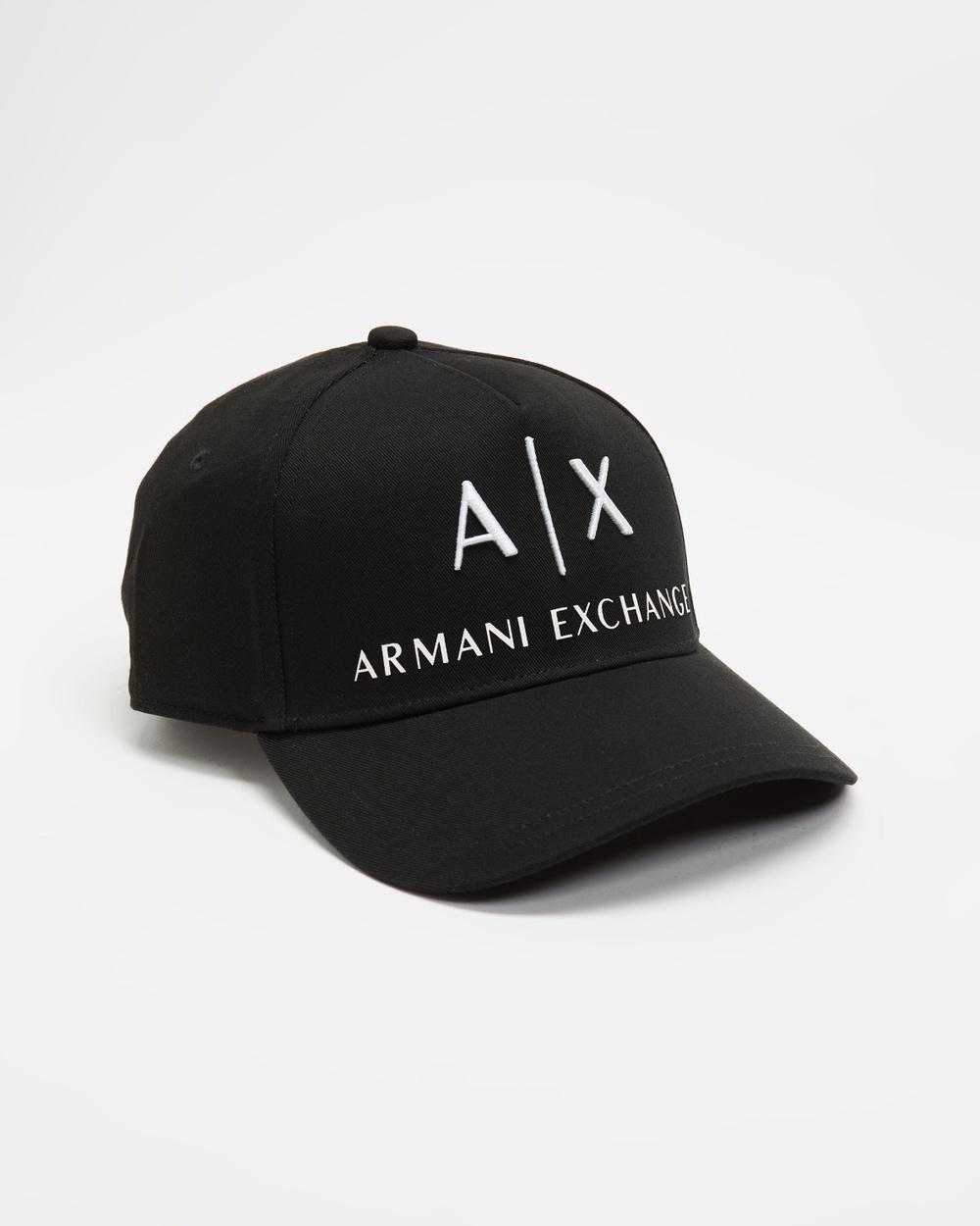 Armani Exchange Logo Baseball Cap Headwear Black