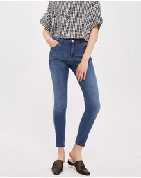 TOPSHOP - MOTO Mid Blue Sidney Jeans